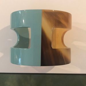 Hermès horn and lacquer ANO cuff bracelet